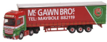 NMB007 Oxford Diecast Mercedes Actros Curtainside McGawn Bros